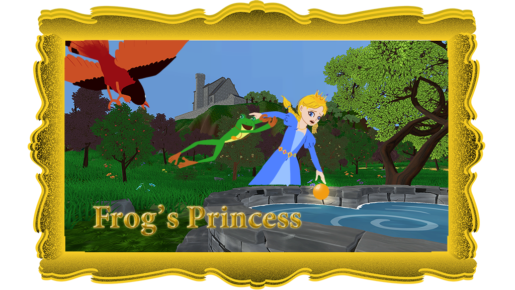 FrogsPrincess framed gold 1024